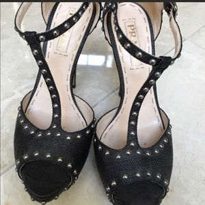 Prada exotic stud heels 👠 .